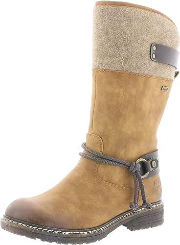Rieker Femme Bottes, Boots 94774, Dame Bottes d'hiver