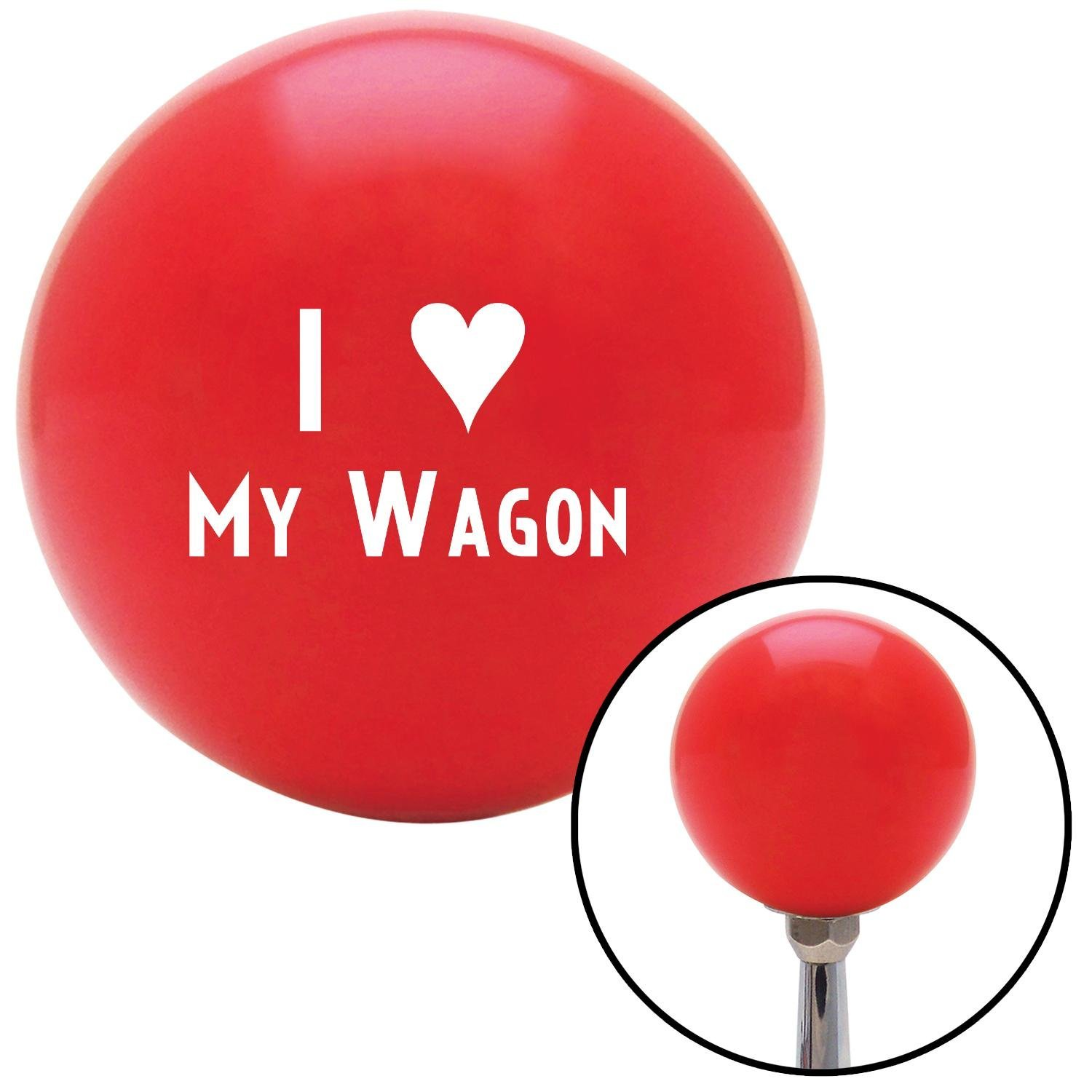 American Shifter 96871 Red Shift Knob with M16 x 1.5 Insert White I 3 My Wagon