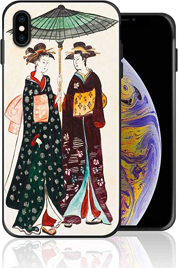 Japanese Red Sakura Kokeshi Doll iphone 11 case