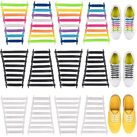 WXJ13 6 pares de cordones para zapatos sin corbata, cordones de ...