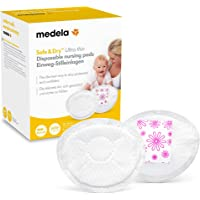 Medela Safe and Dry Ultra Thin Disposable Nursing Pads 30-Pack, White, 30 Count