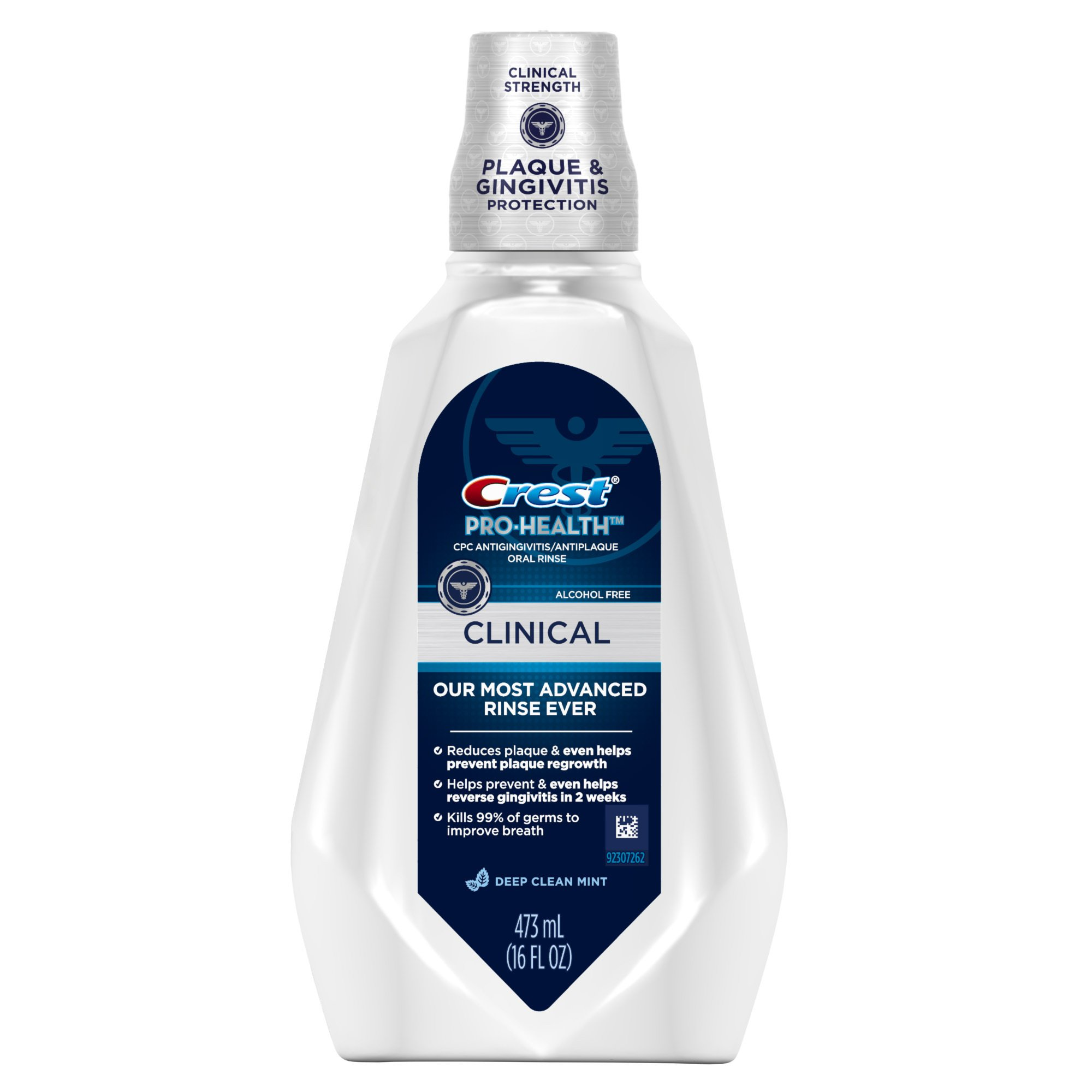 Crest Pro-Health Clinical Deep Clean Mint Mouthwash 473 Ml