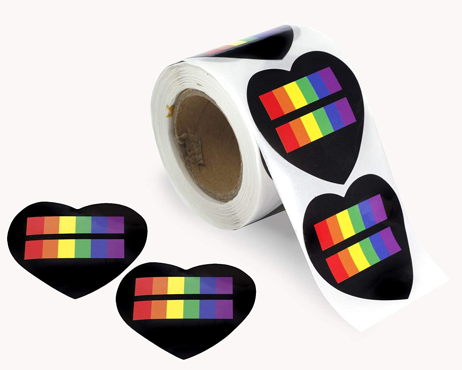Gay Pride 1 Roll - 250 Stickers Pansexual Pride Rectangle Shaped Stickers