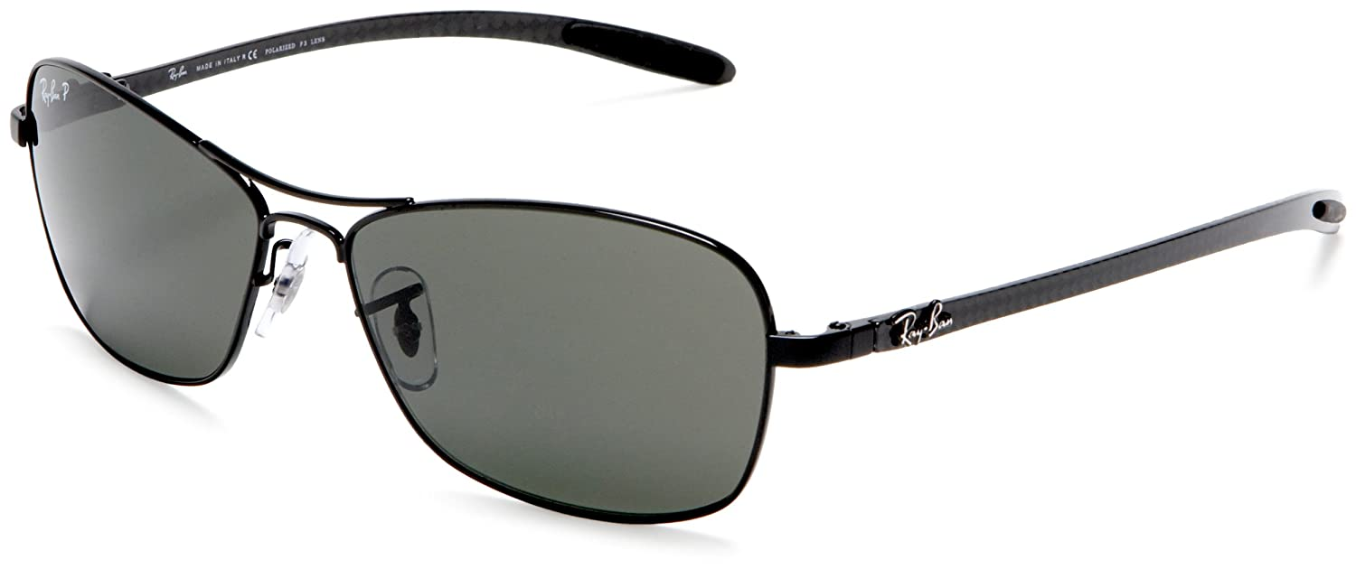 ea6b87cf67646 Ray Ban Sunglasses RB 8302 Tech Black (58)  Amazon.co.uk  Clothing