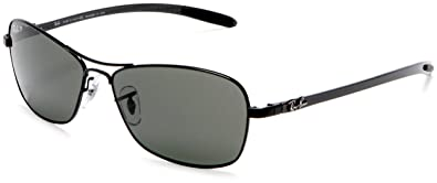 a0e1173eec4 Amazon.com  Ray-Ban RB8302 - BLACK Frame CRYSTAL POLAR GREEN Lenses ...