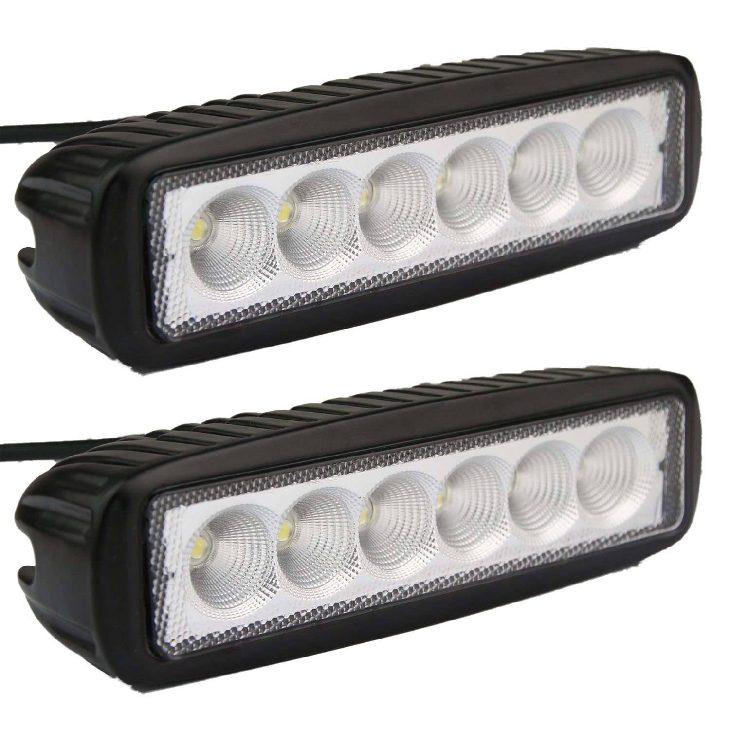 Amazon led light bar senlips 2x 18w flood light led lights amazon led light bar senlips 2x 18w flood light led lights fog light offroad light bar ip 67 waterproof for off road vehicle atv suv utv 4wd aloadofball Choice Image
