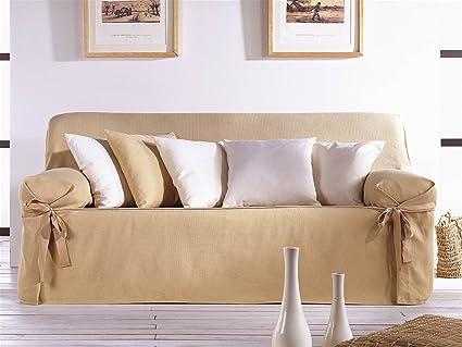 LaNovenaNube - Funda sofa PLUS 3 plazas color Gris: Amazon ...