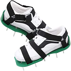 Okano Lawn Aerator Shoes, Heavy Duty Metal Buckles, Adjustable Straps and Sharper Spikes for Effectively Aerating Lawn and Grass for Greener Yard (Not Including Sports Shoes)