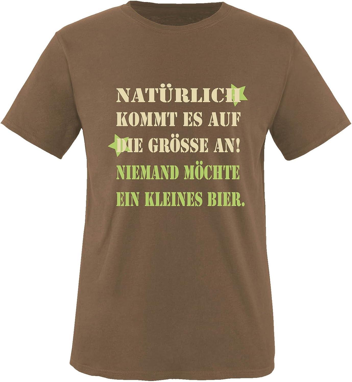 Nat/ürlich kommt es auf die Gr/össe an Niemand m/öchte EIN kleines Bier 100/% Baumwolle Kurzarm Top Basic Print-Shirt Rundhals Comedy Shirts - Herren T-Shirt