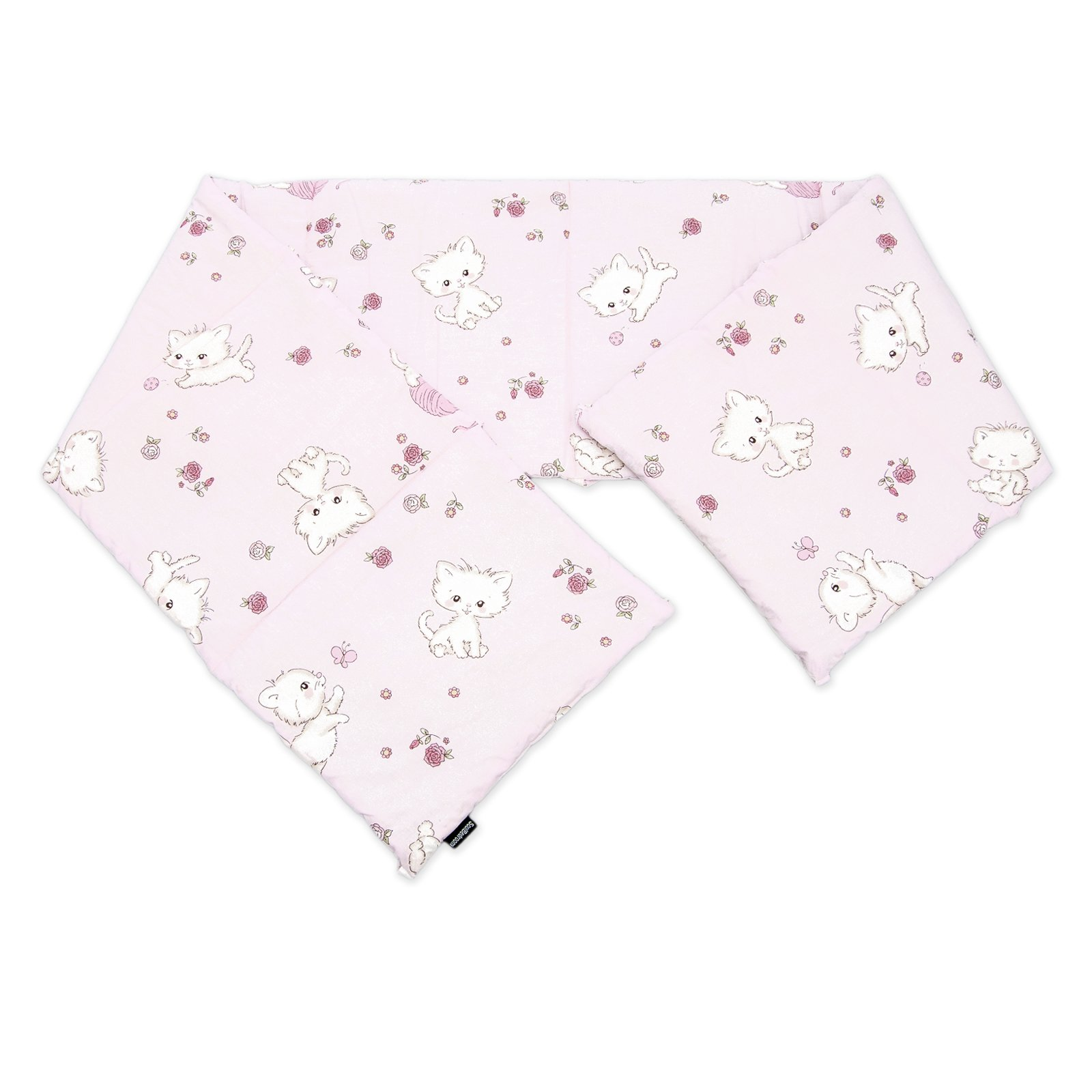 Baby Pink Kittens / SoulBedroom Cotton Cot Bumper Pad Half (210x40 cm)