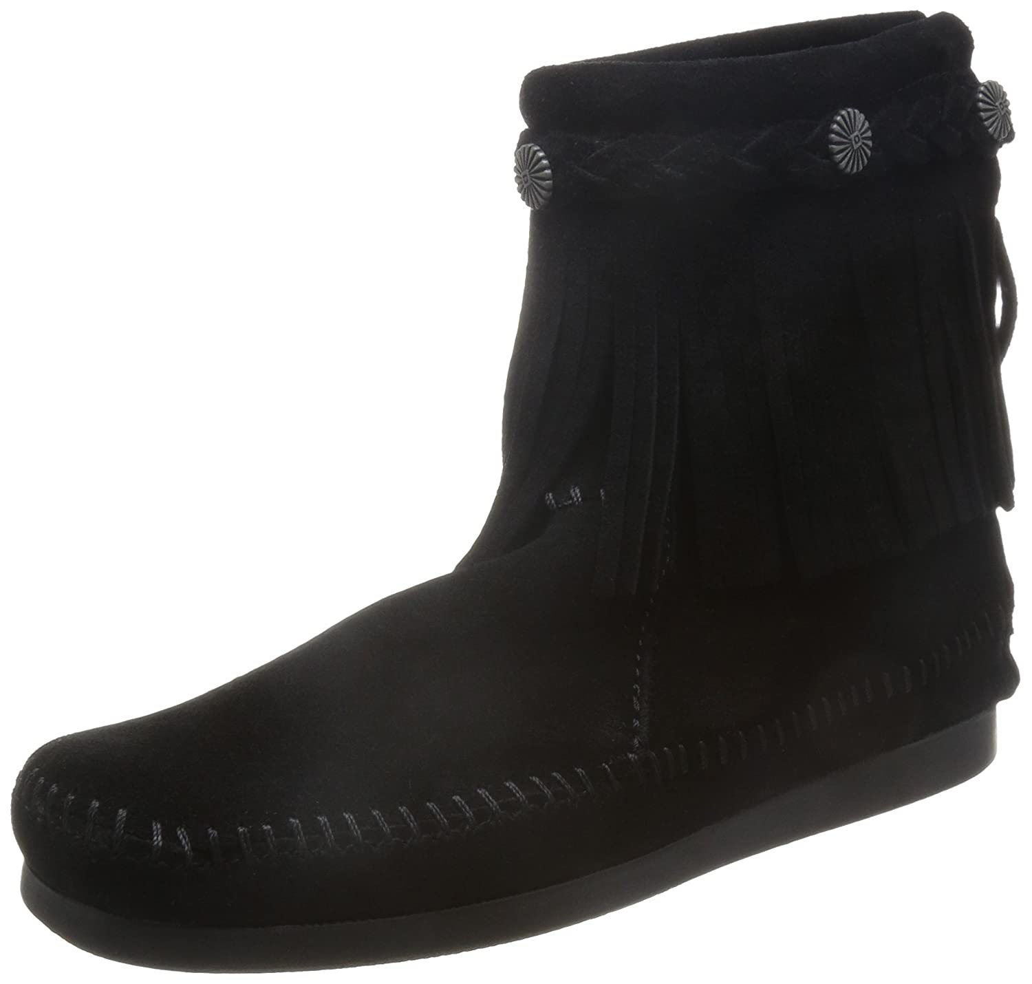 Minnetonka Hi Top Back Zip Boot 299 - Botas de ante para mujer41 EU|Negro (Black)