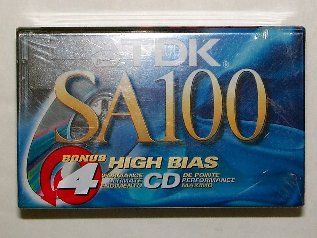 TDK SA100-4 100-Minute High Bias IECII/Type II Blank Audio Cassette (4-Pack) by TDK