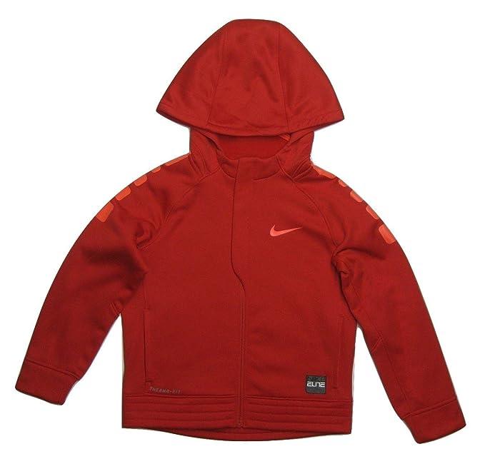 Nike Little Boys Elite rayas full-zip sudadera con capucha para hombre de baloncesto, University Red/Bright Crimson: Amazon.es: Deportes y aire libre