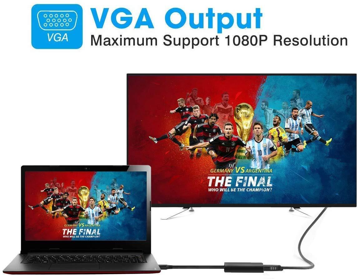 USB 3.0 a Adaptador VGA para Windows 10//8.1//8//7 multimonitor resoluci/ón hasta 1920 x 1080 Adaptador USB a VGA HOPLAZA conversor USB VGA con m/últiples Pantallas