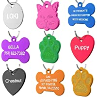 Dr. Fremont's Pet ID Tag Custom for Dog Cat Personalized   Many Shapes and Colors to Choose from   Made in USA   Strong Anodized Aluminum