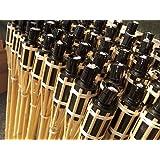 18x fiaccole da giardino in bambù, fiaccole da giardino, in bambù, iapyx®