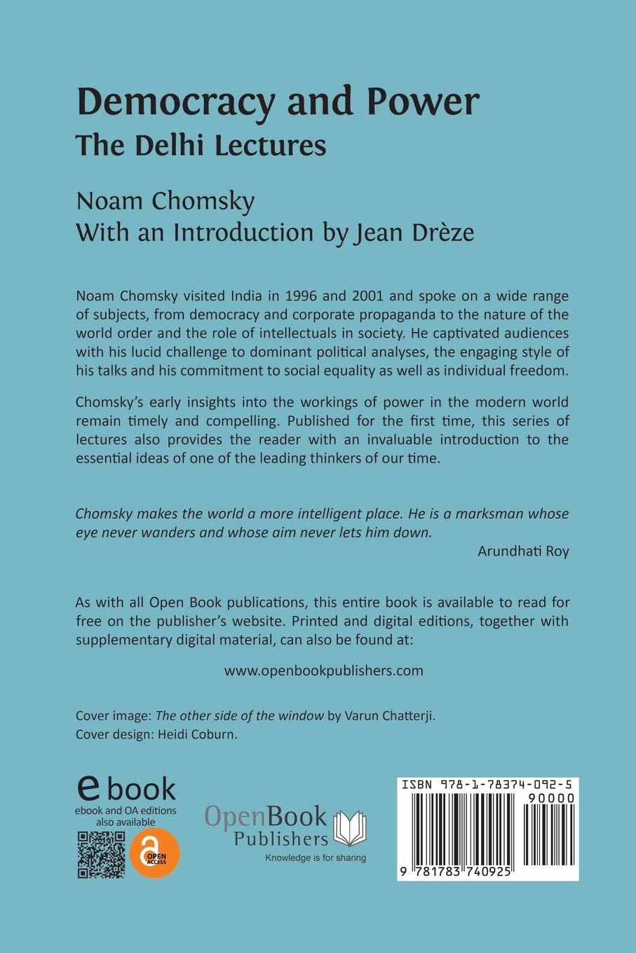 Democracy and Power: The Delhi Lectures: Noam Chomsky, Jean