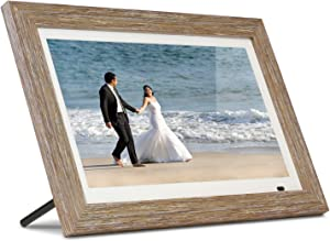 "Aluratek 13"" Distressed Wood Digital Photo Frame with 8GB Built-in Memory, Includes 2 Interchangeable Frames,1920 x 1080 (ADMPFD13F)"