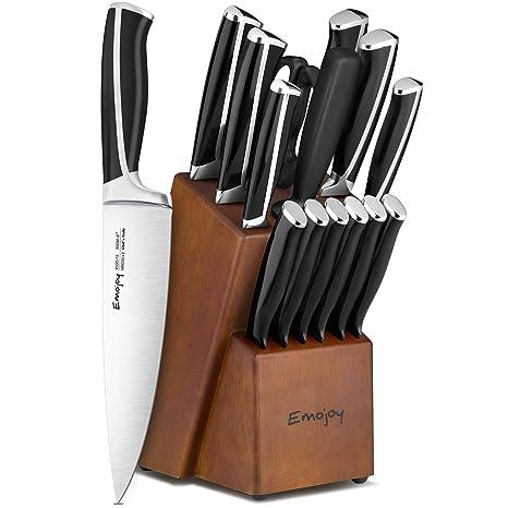 Amazon.com: Juego de cuchillos de cocina de 15 piezas con ...