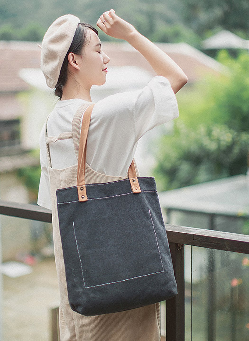 Bageek Canvas Tote Bag Handbags for Womens Bag Canvas Purses and Handbags by Bageek (Image #5)