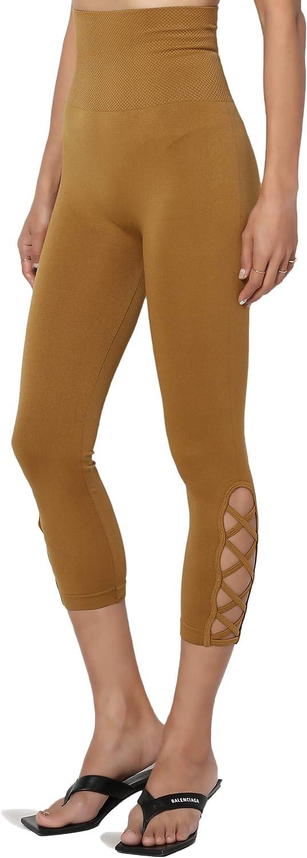 TheMogan Womens Empire Waist Tummy Compression High Waist Seamless Leggings
