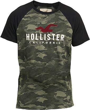 Hollister - Camiseta - Camiseta - Manga corta - para hombre verde ...
