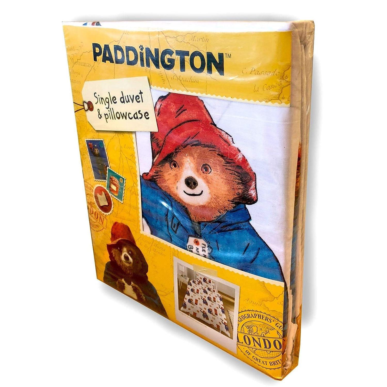 1 x Double Sided Sheet and 1 x Pillowcase Paddington Bear Postbox 2 Piece UK Single//US Twin Sheet Set