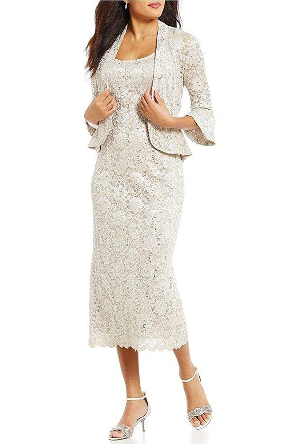 Ugly Two Pieces Lace Mother Of The Bride Wedding Dresses Tea
