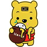 Note 5 Case, MC Fashion Cute 3D Soft Protective Silicone Phone Case for Samsung Galaxy Note 5 (Honey Winnie the Pooh)