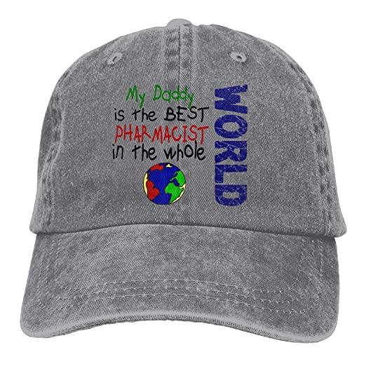 Best Pharmacist In World 2 (Daddy) Unisex Flat Bill Hip Hop Cap Baseball Hat 9ae0ad4b358