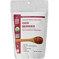 Super Good For You Foods USDA Certified Organic Whole Sun-Dried Goji Berries |High Level Antioxidants|Immune Function|Energy & Mood Boost| Gluten-Free, Non-GMO + Vegan + No Sugar Added + Kosher, 226G