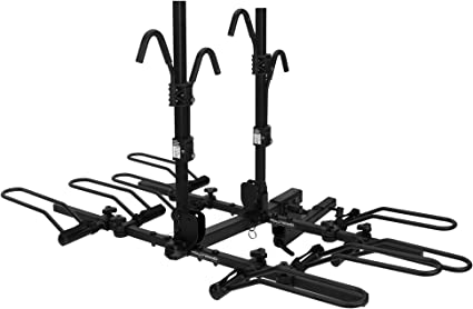 4 Bike Platform Style Bicycle Rider Hitch Mount Carrier Rack Sport Receiver
