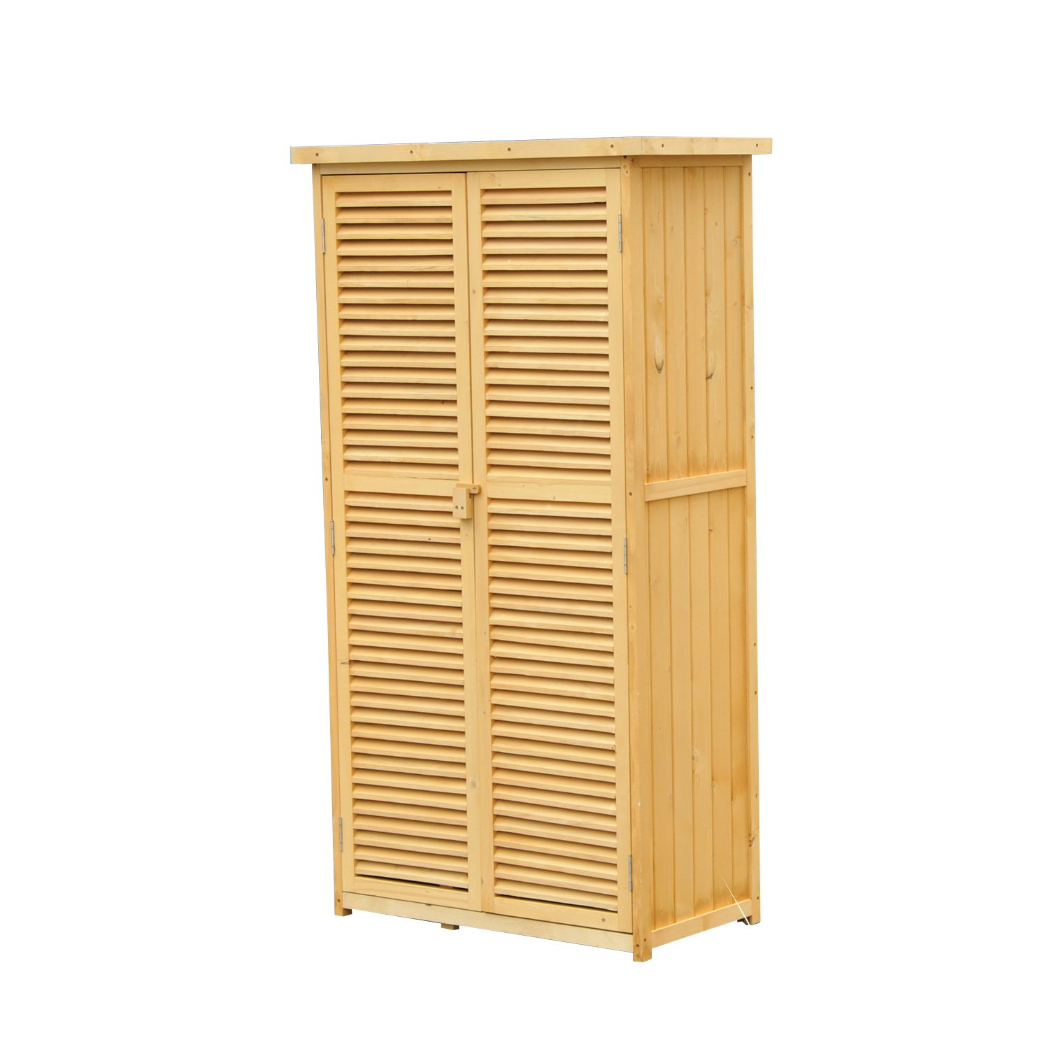 Outsunny Wooden Outdoor Garden Storage Shed
