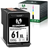 Economink Remanufactured Ink Cartridge Replacement for HP 61XL 61 XL Black Used in Envy 4500 4502 5530 DeskJet 2512 1512 2542