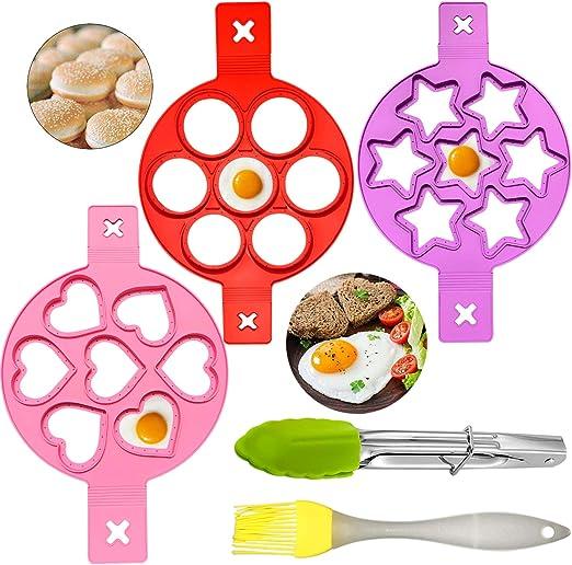Paquete de 5 anillos de silicona reutilizables para huevo frito ...
