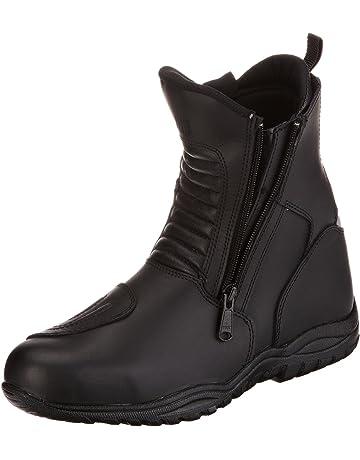 71f7bd8670e7 Protectwear Bottes de moto tournée, bas, en cuir, noir, TB-ALN