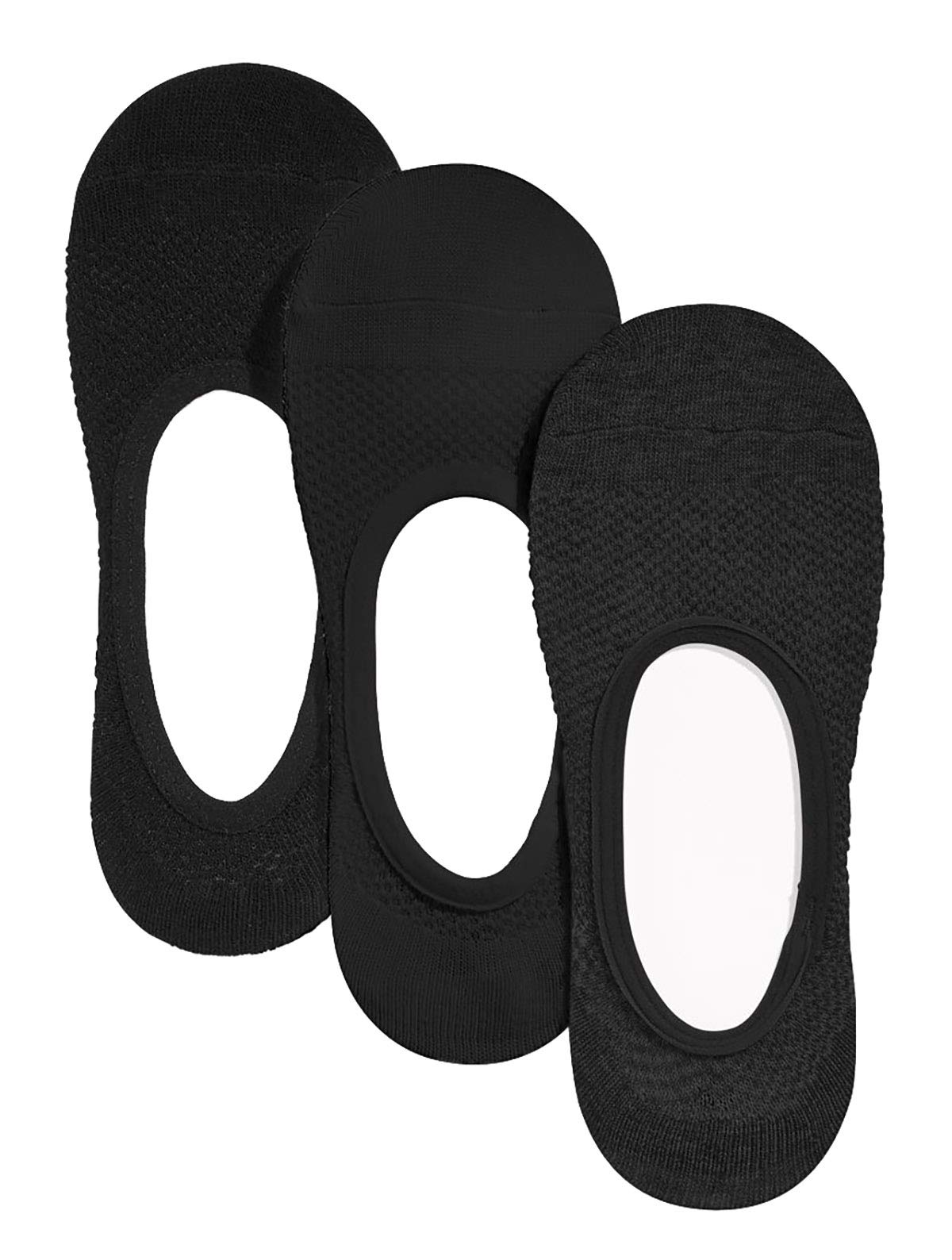 Charter Club Women's High-Cut Liner Socks 3 Pack (Black)