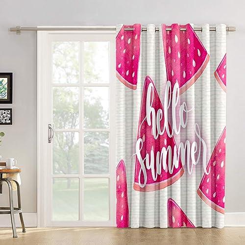 Best window curtain panel: Libaoge Room Darkening Pink Summer Window Curtains