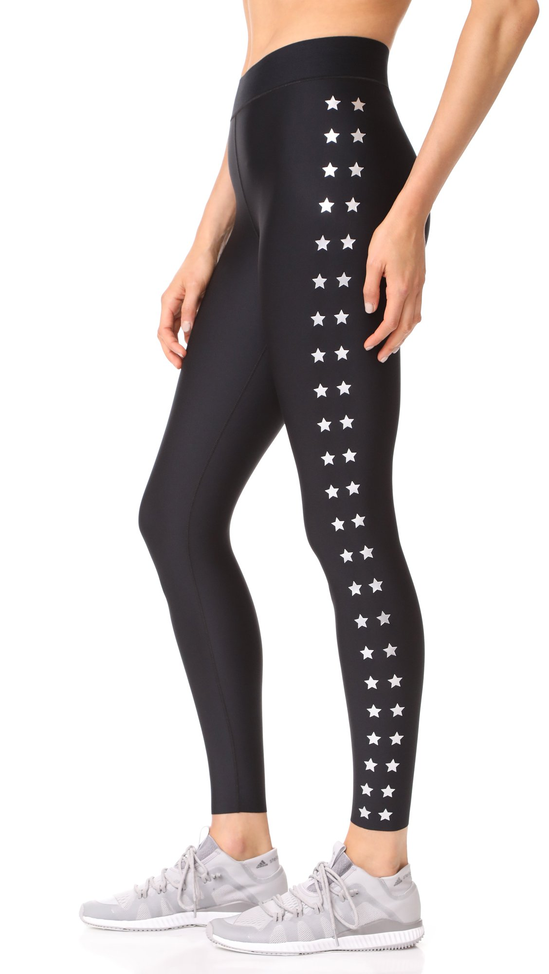 Ultracor Women's Ultra Matte Flash Knockout Leggings, Nero/Silver, X-Small by Ultracor (Image #3)