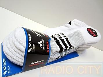 6d206a283579 Adidas Men's Sport Superlite No Show Sock (White - 6 Pair)