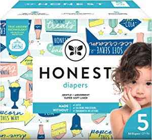 The Honest Company The Honest Company Baby Diapers with True Absorb Technology, Drive-in, Size 5, 50 Count, 50 Count
