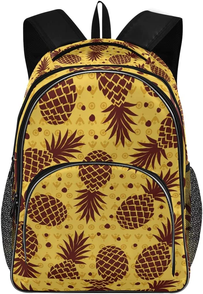 Shoulder Bag Computer Backpack for Men Women Casual Daypack Rucksack with Laptop Compartment Pineapple Backpack Fits Up to 15.6 Inch