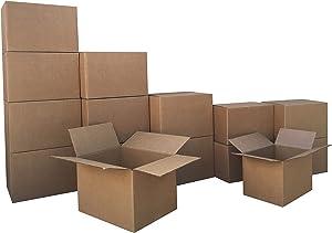 AmazonBasics Moving Boxes - Small/Medium Bundle, 15-Pack