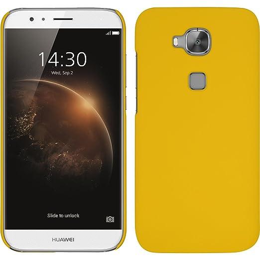 9 opinioni per Custodia Rigida per Huawei G8- gommata giallo- Cover PhoneNatic + pellicola