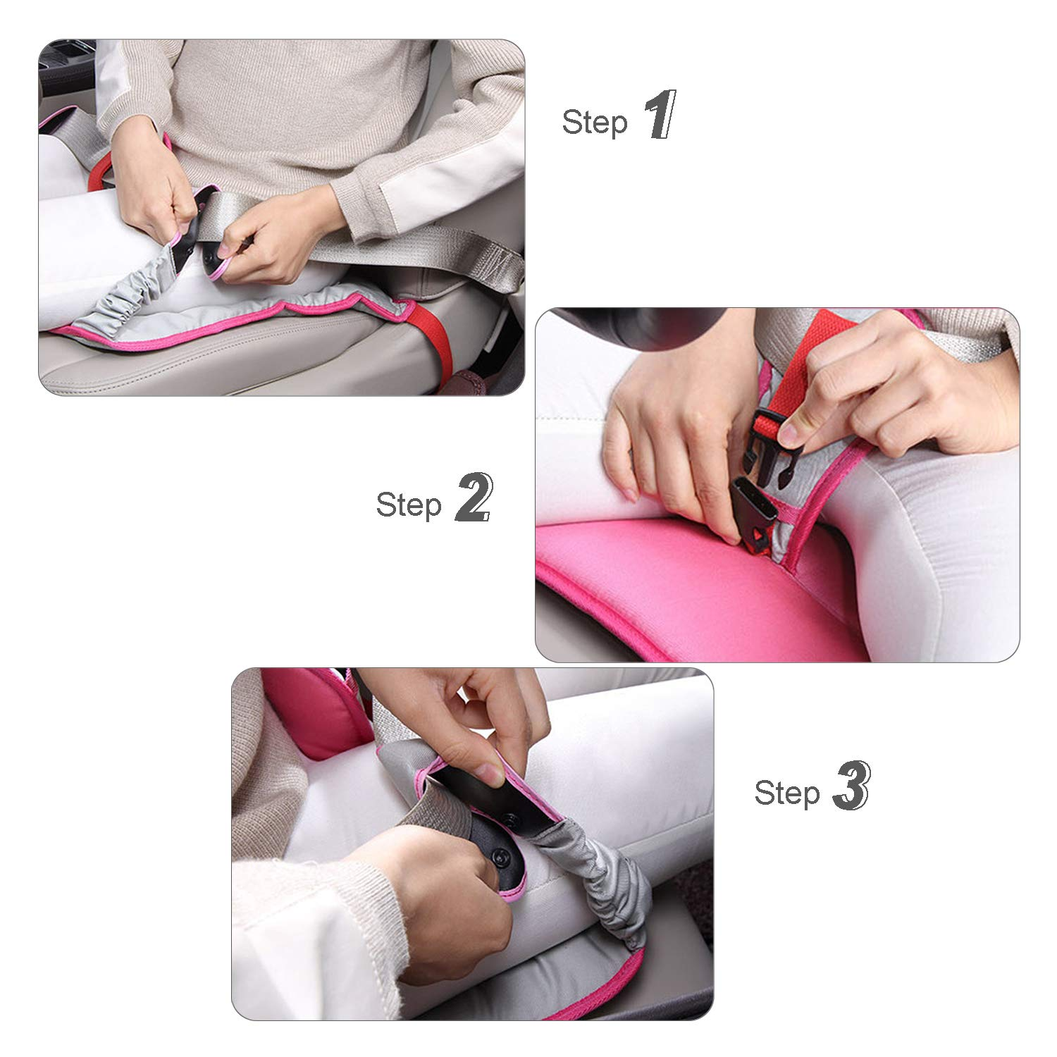 Pregnancy Car Seat Belt Pads,Maternity Car Belt Adjuster Blue Comfortable Seat Pad for Pregnant Moms Belly,A Must-Have Bump Belt for Expectant Mothers,Protect Unborn Baby