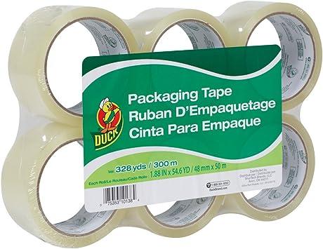 441962 6 Rolls 1.88 Inch x 54.6 Yard, 4 Pack Duck HD Clear Heavy Duty Packing Tape Refill
