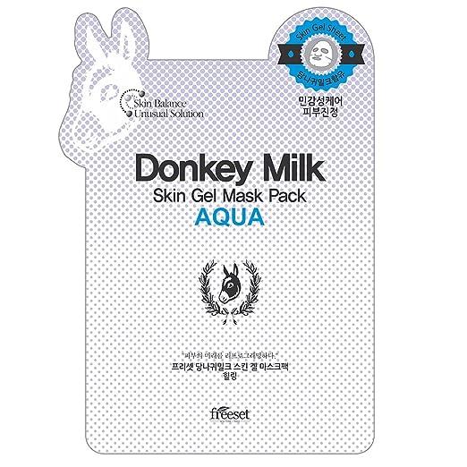 Freeset Donkey Milk Skin Gel Mask Pack Aqua, 10 Count
