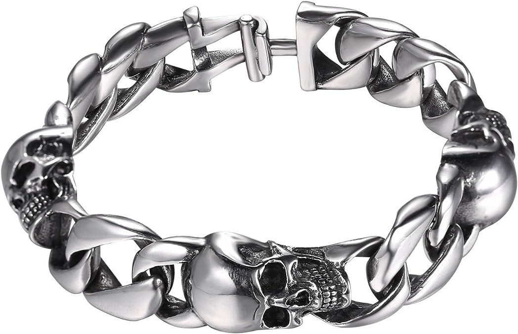 Acheter bracelet tete de mort online 4