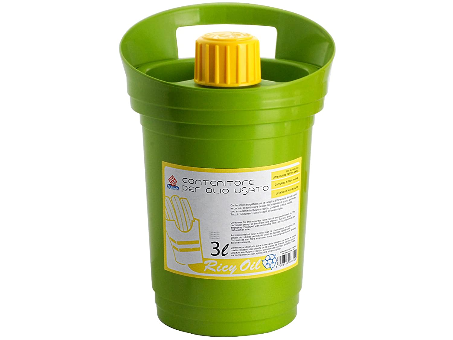 Home Ricyoil Waste Oil Container, Plastic, 3 Litres Home Pulindo 3985103