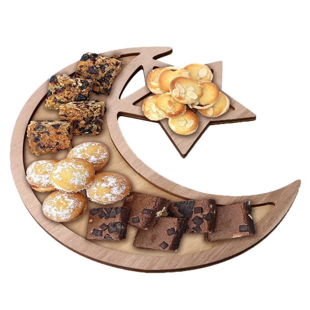 Weiliru Wooden Artistic Mubarak Party Serving Tableware Tray Display Wood Decoration Elegant Cupcake Holders